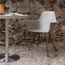 Beton Bistro Masa - Paslanmaz Ayaklı Beton Cafe Masası
