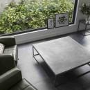 Beton Sehpa - Metal Ayaklı Modern Minimalist Sehpa Tasarımı